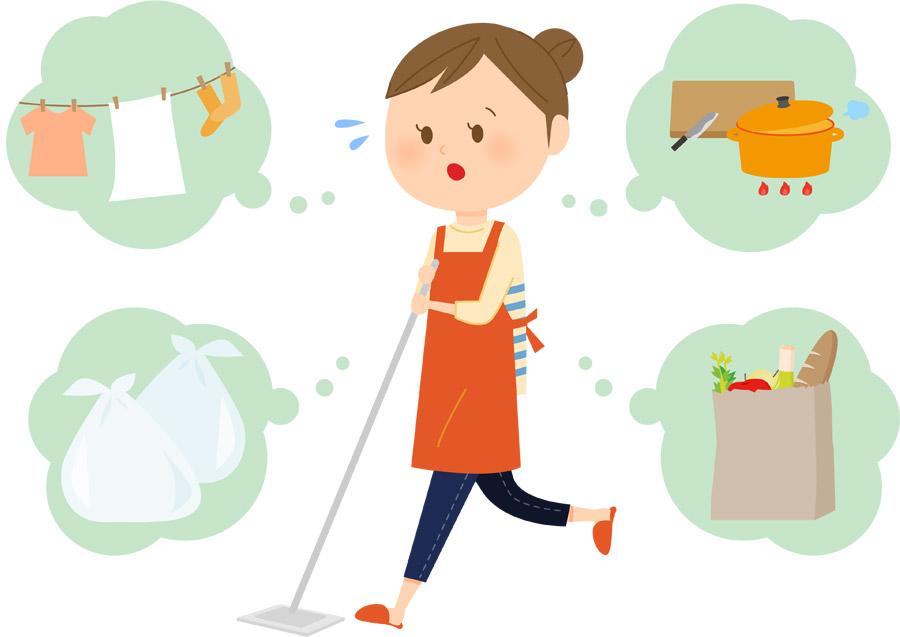 専業主婦 洗濯 料理 ゴミ捨て 家事 女性