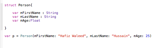 Struct without init method
