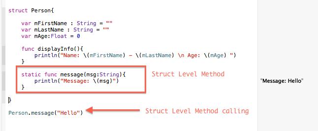 Struct level method