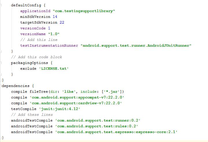 Gradle dependencies