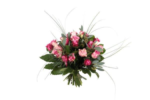 Gemengde roze rozen | Boeket bezorgen | Uwbloemenman.nl
