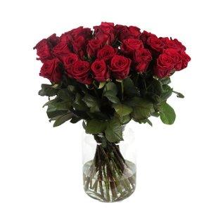 100 rode rozen | Pure liefde | Uwbloemenman.nl