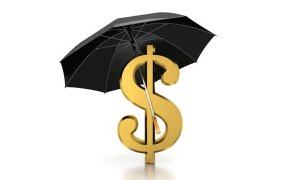 dollar sign with open umbrella