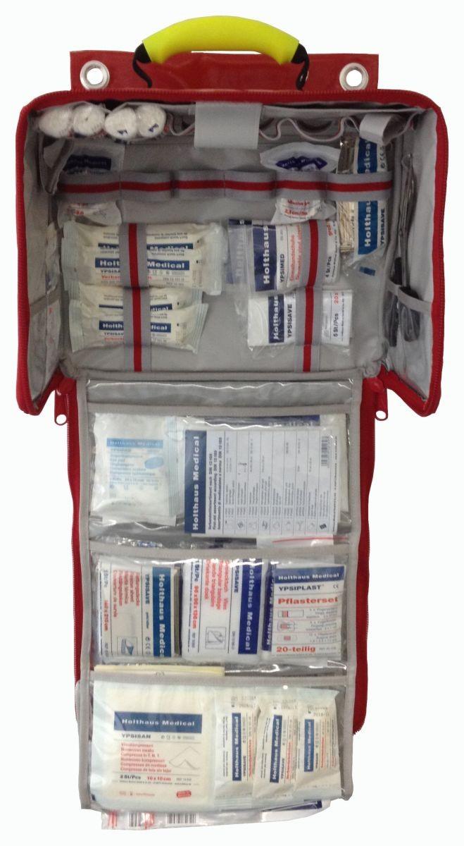 Erste Hilfe Tasche PARAMEDIC Wandtasche, gefüllt nach DIN 13169