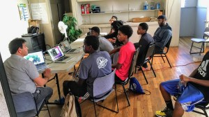 The Hub space for East African young men with counselors