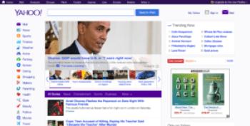 Page d'accueil Yahoo - en anglais