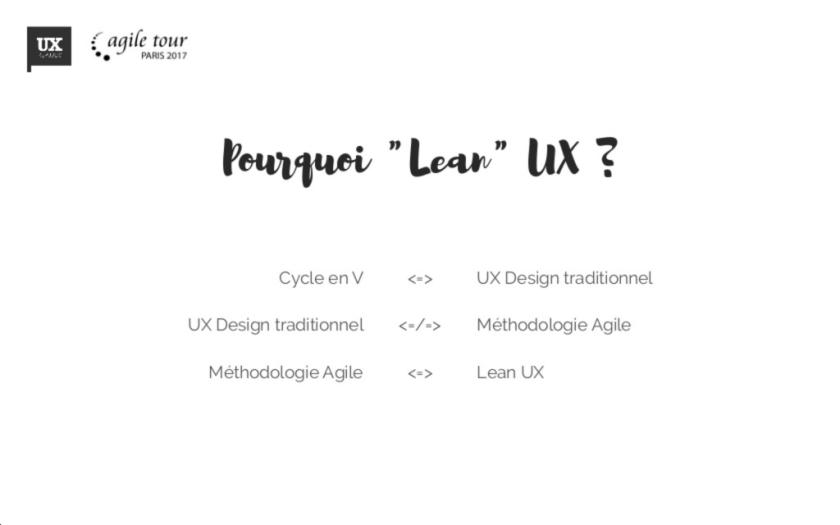 pourquoi le lean UX