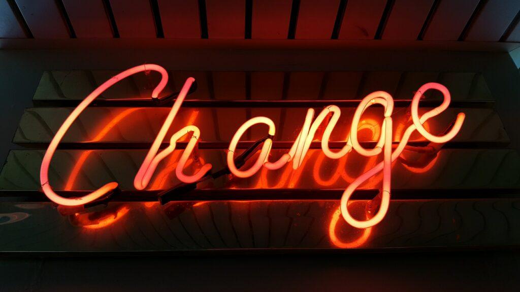 neon change