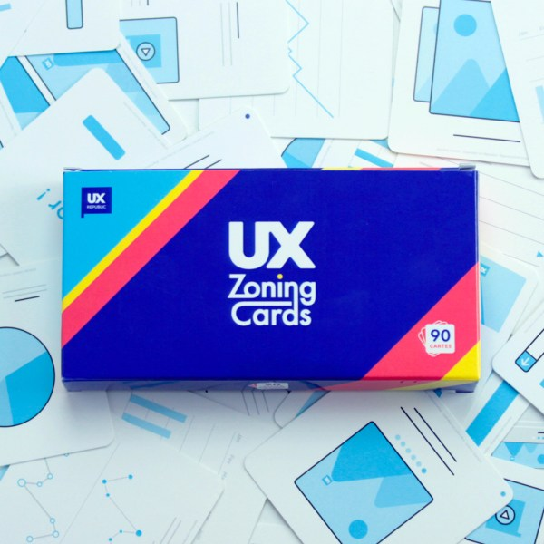 Boite de face UX Zoning cards par UX Republic