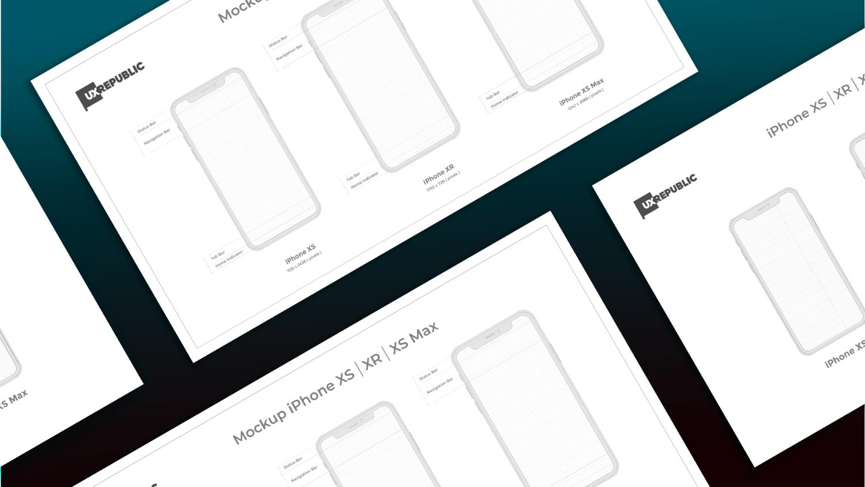 template mockup iphone