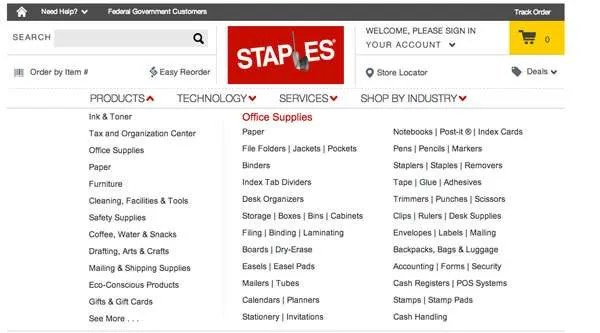 staples_ux_mega_menu_hicks_law