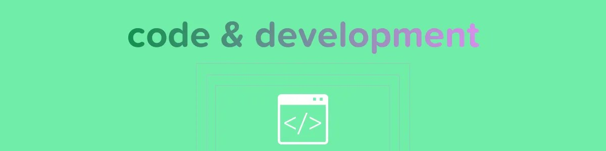 Code, Development, Programming section image