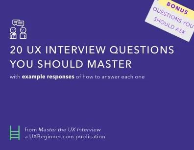 Bonus #2: UX Questions U0026 Example Answers