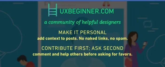 UX beginner facebook community