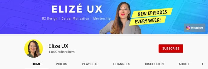 Elize UX Youtube Channel