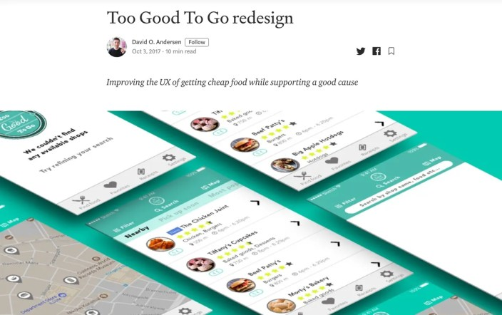 Too Good to Go Redesign