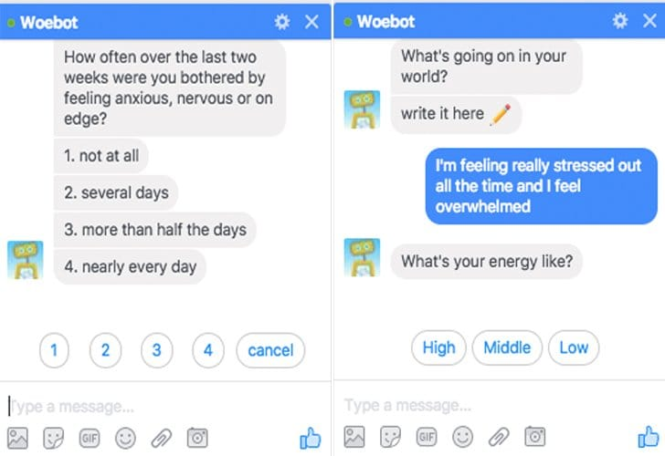 woebot chat bot therapy tech