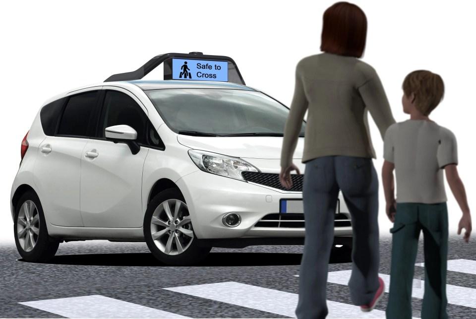 self-driving billboard hri
