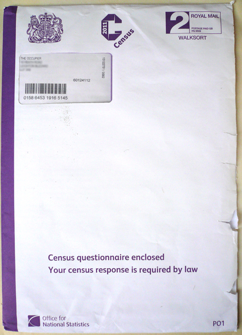 UK Census Envelope