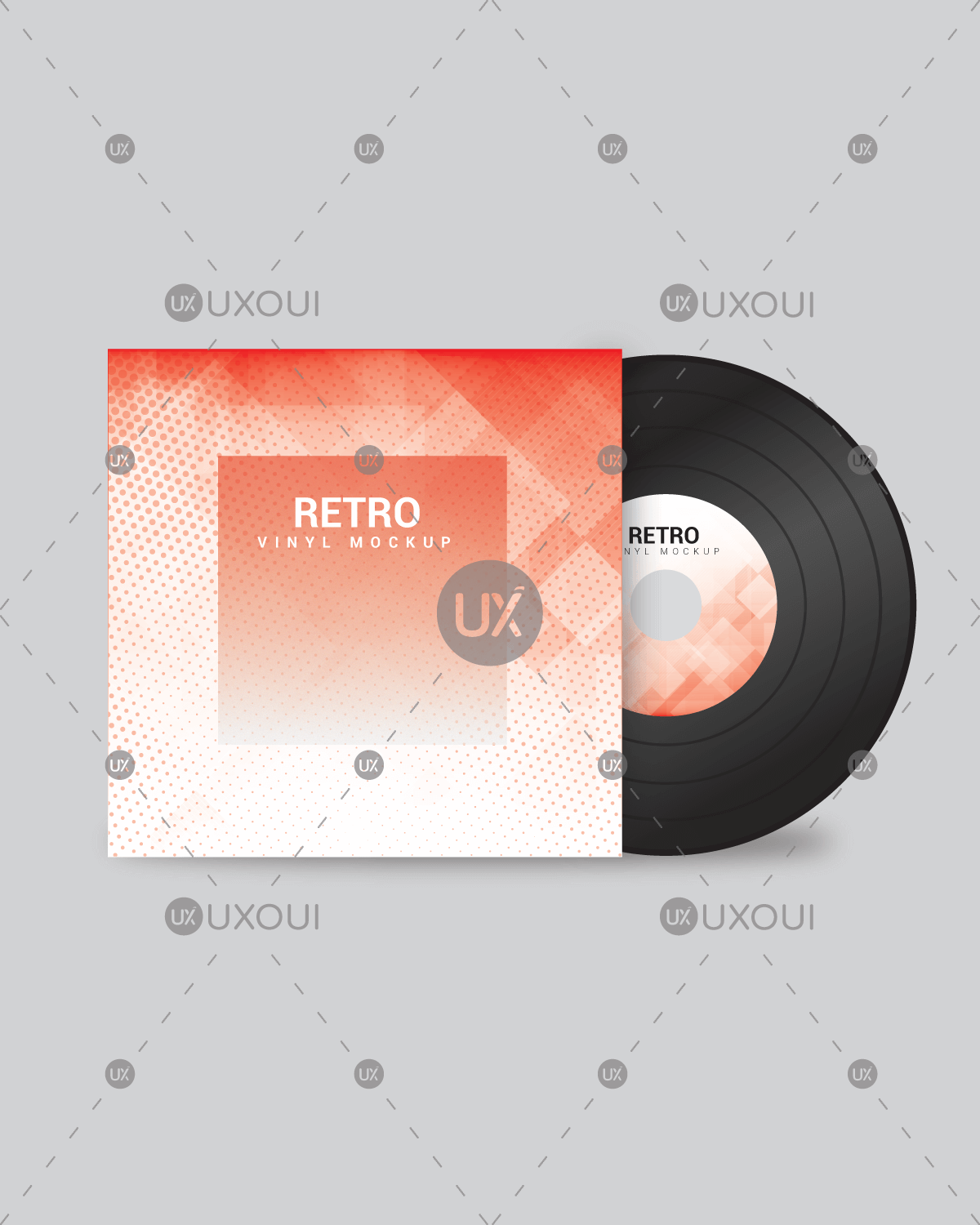album cd dvd cover design template with pattern background color