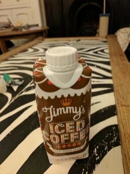 Jimmy's Iced Coffee, good with popcorn snacks!