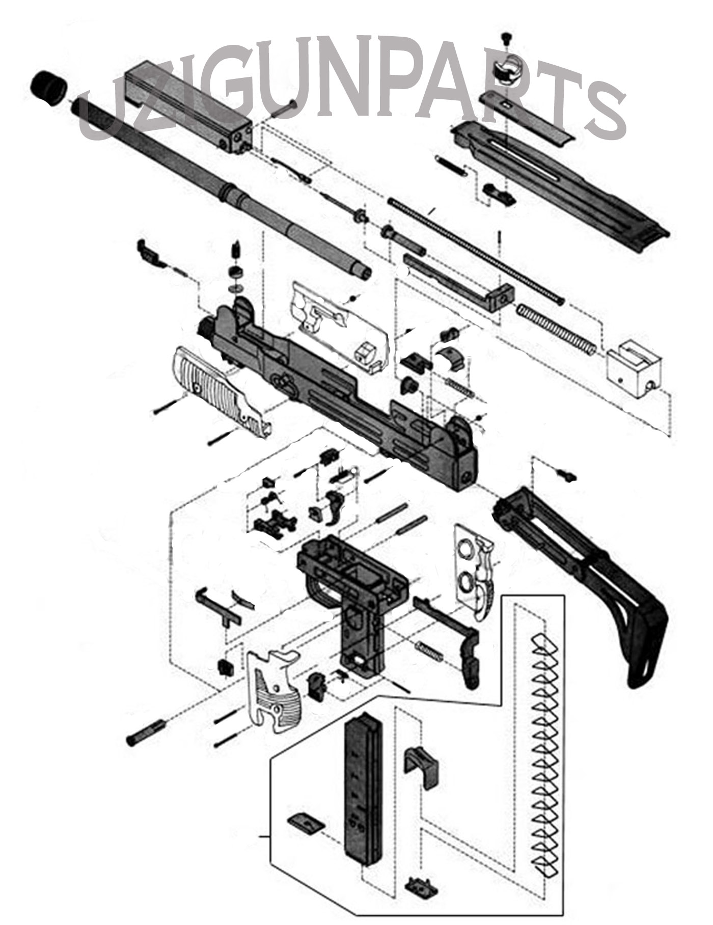 Uzi Parts Kit By Imi Used