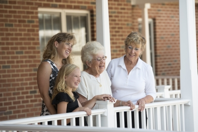 Multiple Generations Enjoying Family Time at Senior Apartments in Lititz, PA