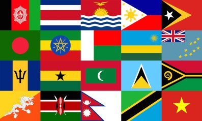 National Flags of the Vulnerable Twenty (V20) Group