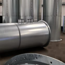 Galvanised pipes for welding