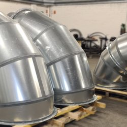 fully welded bends ready for shipping