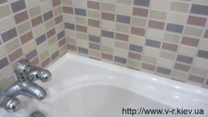 Герметизация стыка ванной со стеной Ребров Вячеслав Николаевич (093) 309 01 75 (099) 070 18 33