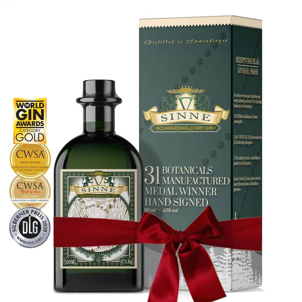 V-SINNE Schwarzwald Gin Geschenkbox Geschenkverpackung
