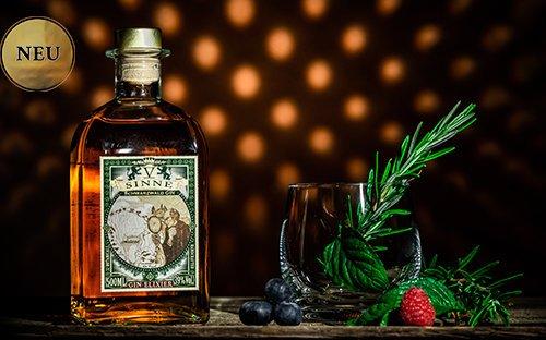 V-SINNE Gin Elixier goldener Hintergrund