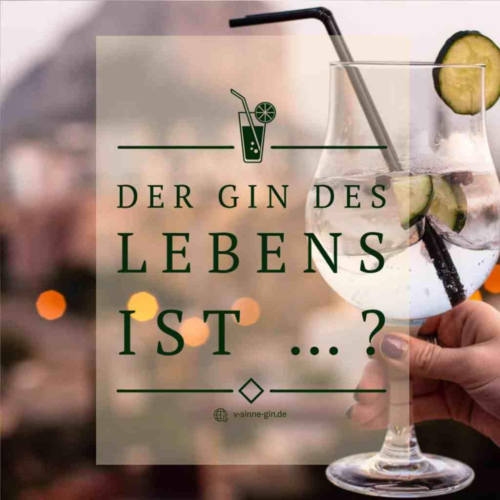 Gin Spruch: Der Gin des Lebens ist...?
