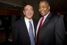 Friday, Sept. 5, 2008 -- Springfield, Ma -- Basketball Hall of Fame Induction Ceremony -- 2008 HOF Inductee Dick Vitale with John Saunders