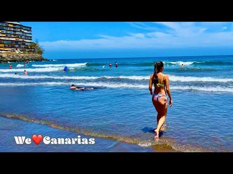 Gran Canaria Playa del Ingles San Agustin Beach Live   We❤️Canarias