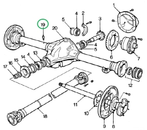 V8NOTE498, replacement back axle breather check, V8 Workshop Notes, V8 Register, MG Car Club