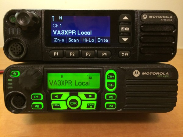 Motorola MOTOTRBO XPR 5550 & XPR 4550 Front Comparison