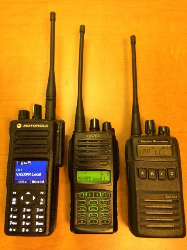 Connect System, CS700, UHF, DMR, digital mobile radio, HT, portable, radio, ham radio, amateur radio, VA3XPR, review, Motorola, MOTOTRBO, XPR 7550, UHF, Vertex Standard, EVX-534, eVerge