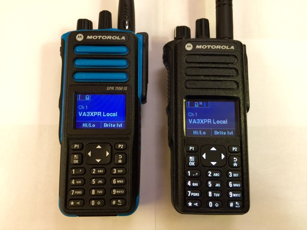 Motorola MOTOTRBO XPR 7550 IS intrinsically safe radio ham radio DMR