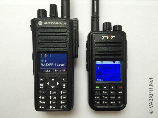 Tytera TYT MD-380 DMR Radio Motorola MOTOTRBO XPR7550 VA3XPR