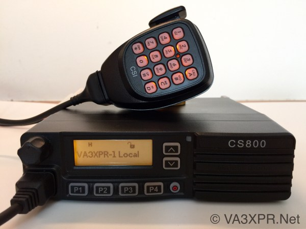 Connect Systems CS800 VA3XPR DMR radio ham