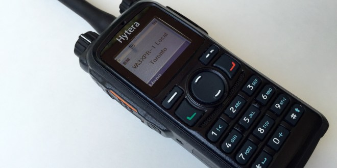 Hytera PD782 DMR digital mobile radio portable ham VA3XPR HT