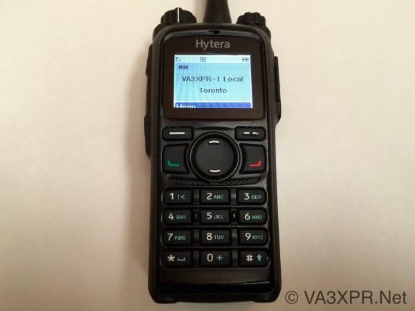 Hytera PD782 DMR radio digital mobile ham keypad display colour LCD