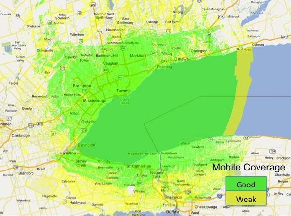 VA3XPR VA3XPS C4FM Coverage Map Toronto UHF ham radio