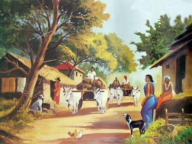 village-clean-india-art