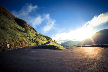 Route du Puy Mary dans le Cantal