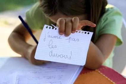 j'aime pas les devoirs !