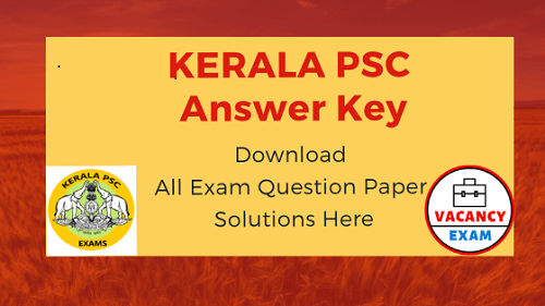 kerala psc answer key 2019