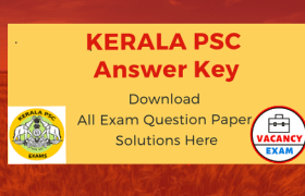 kerala psc answer key 2019